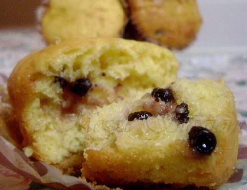 Muffin al cioccolato bianco e mirtilli, ricetta