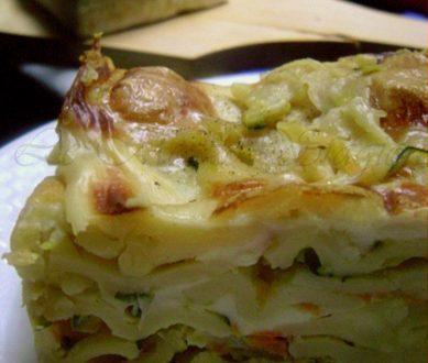 Lasagne al salmone zucchine e brie, ricetta