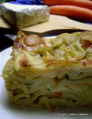 Lasagne al salmone zucchine e brie