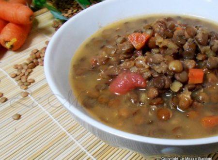 Zuppa di lenticchie, ricetta economica