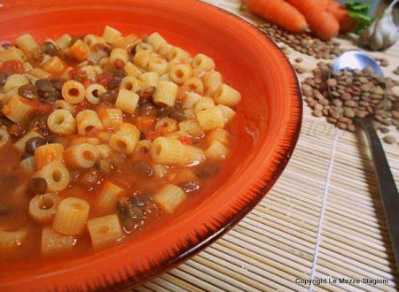 Pasta e lenticchie, ricetta primo piatto
