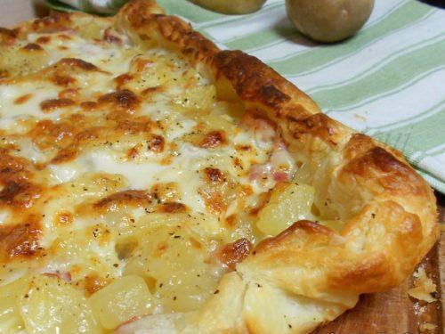 Torta salata con patate e pancetta, ricetta