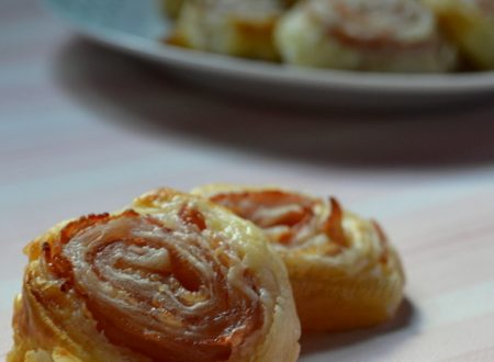 Girelle salate di pasta sfoglia, ricetta