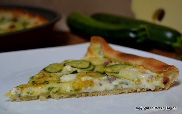 torta salata zucchine e panetta