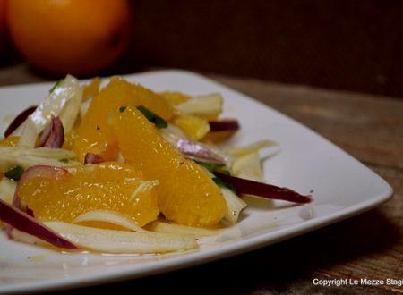 Insalata di finocchi arance e cipolle rosse