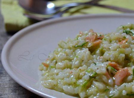 Risotto al salmone e zucchine ricetta con e senza Bimby