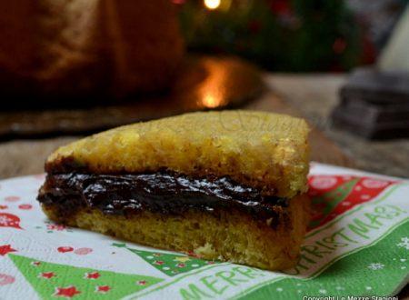 Pandoro farcito con crema al cioccolato ricetta