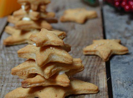 Alberelli di biscotti salati antipasto di natale