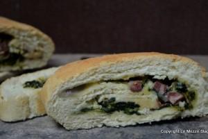 Rotolo di pane farcito ricetta con e senza Bimby