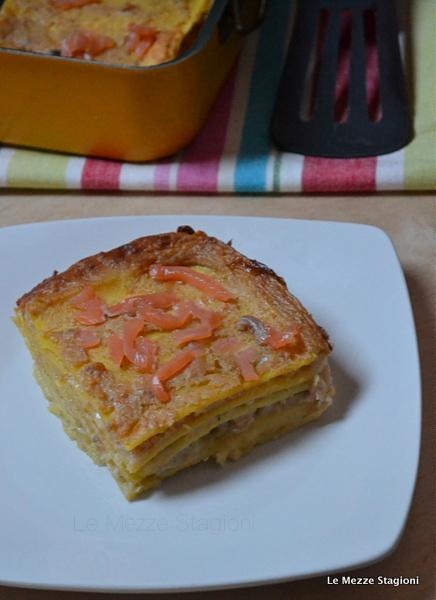 Lasagne ricotta e salmone ricetta anche Bimby