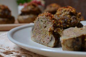 Funghi ripieni di carne al forno Ricetta anche Bimby