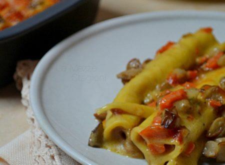 Cannelloni con zucca salsiccia e porcini ricetta anche Bimby