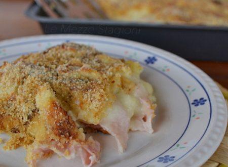 Sformato di patate con prosciutto e formaggio
