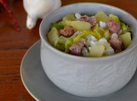 Risotto verza e salsiccia ricetta anche Bimby