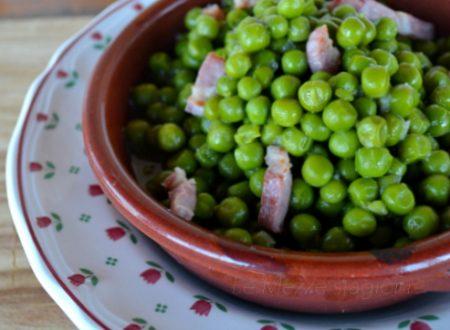 Piselli e pancetta ricetta contorno anche con bimby