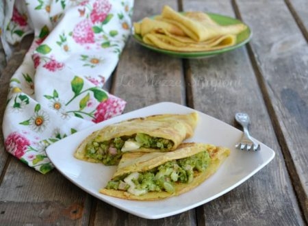 Crespelle ripiene di broccoletti e pancetta