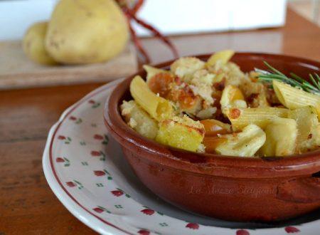 Pasta e patate al forno ricetta