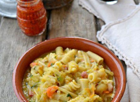 Pasta patate zucca e pancetta ricetta