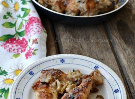 Pollo ai funghi in padella