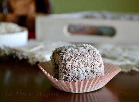 Lamington Dolcetti al cocco e cioccolato