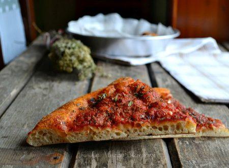 Pizza con farina di semola