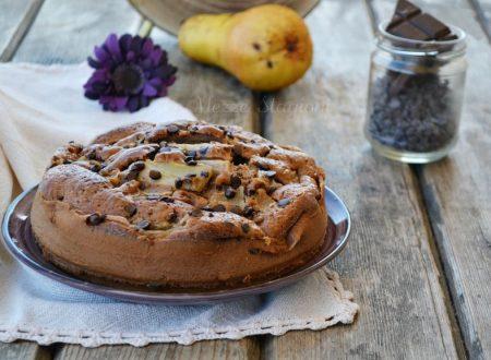 Torta pere cioccolato e yogurt