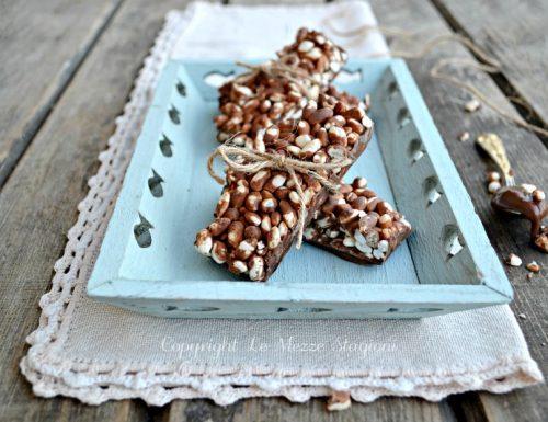 Barrette cioccolato e riso soffiato
