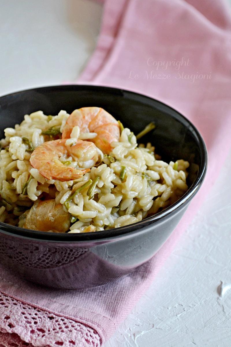 ricetta risotto asparagi e gamberetti