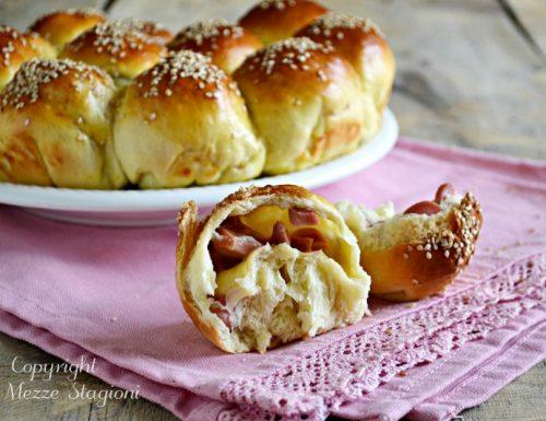 Danubio napoletano con wurstel e patate