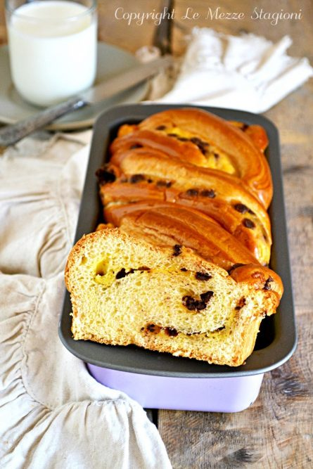 Pan brioche con crema pasticcera