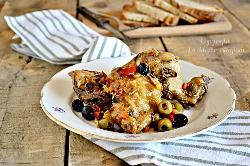 pollo alla cacciatora alle olive
