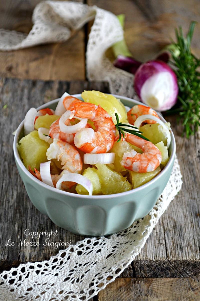 insalata di gamberi e patate