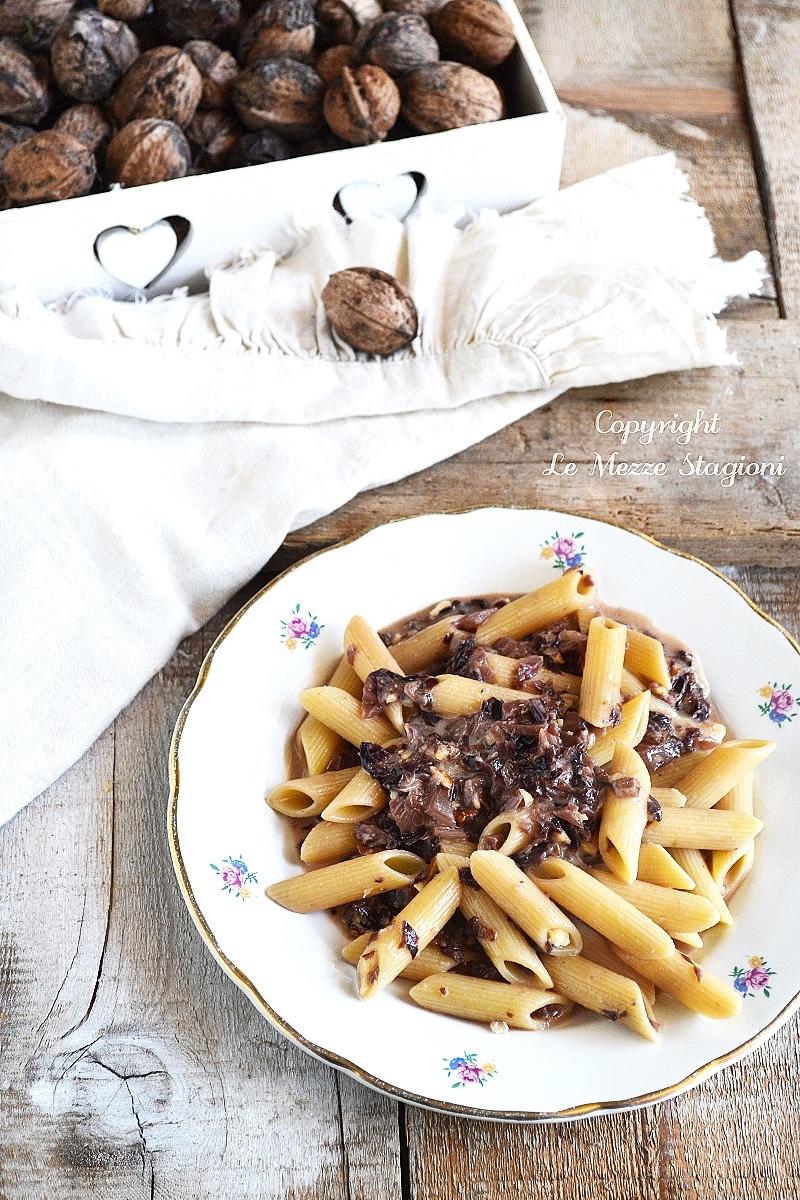 pasta radicchio gorgonzola e noci