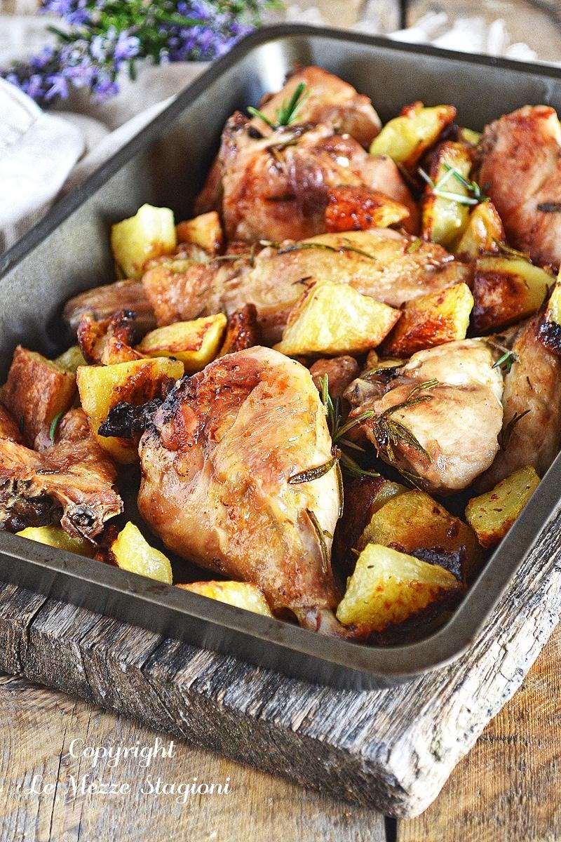 pollo e patate al forno croccanti