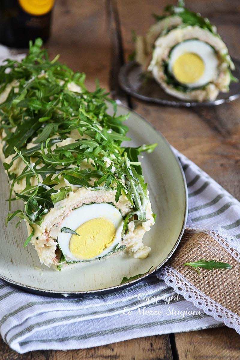 rotolo tramezzino con tonno rucola e uova