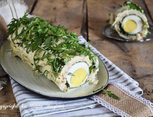 Rotolo tramezzino con tonno rucola e uova sode