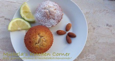 Muffins Mandorle, Yogurt Greco e Limone