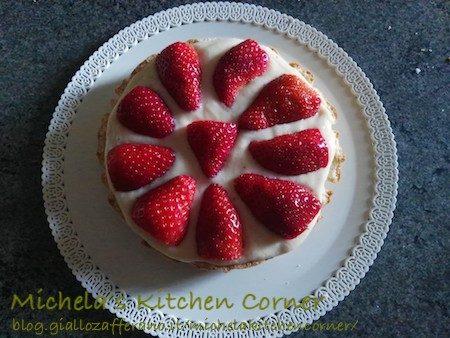 Torta fragole e vaniglia