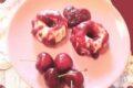 Panna cotta con salsa alle ciliege