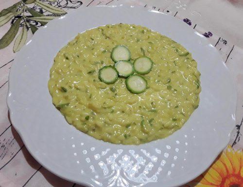 Risotto con zucchine e mascarpone