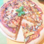 Pizza con zucchine e melanzane