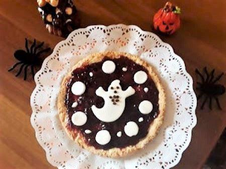 Crostata di Halloween con fantasma