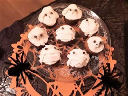 Muffin mummia e fantasmi Halloween