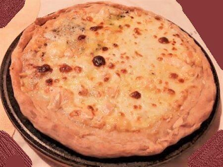 Pizza bianca ai 4 formaggi