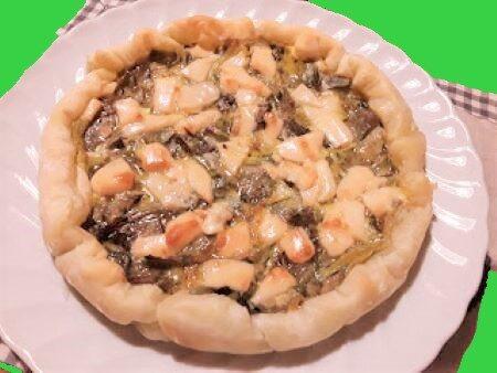 Torta salata con carciofi e provolone