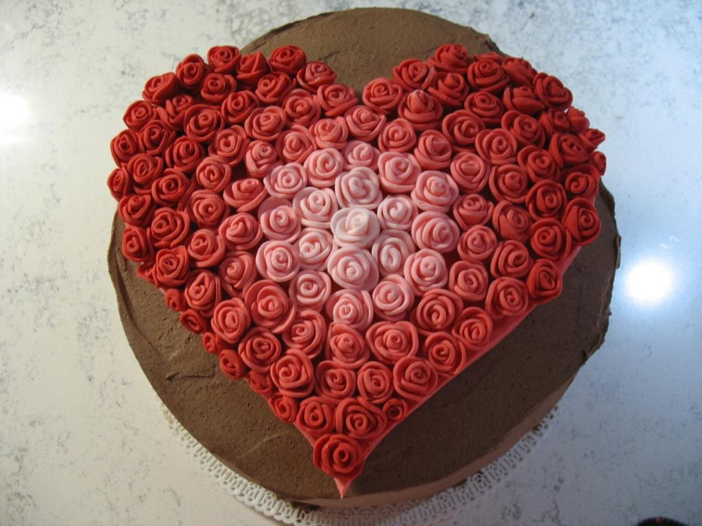 Cuore di mamma torta 1 minuto al cacao fragole ganache for Decorazione waffel
