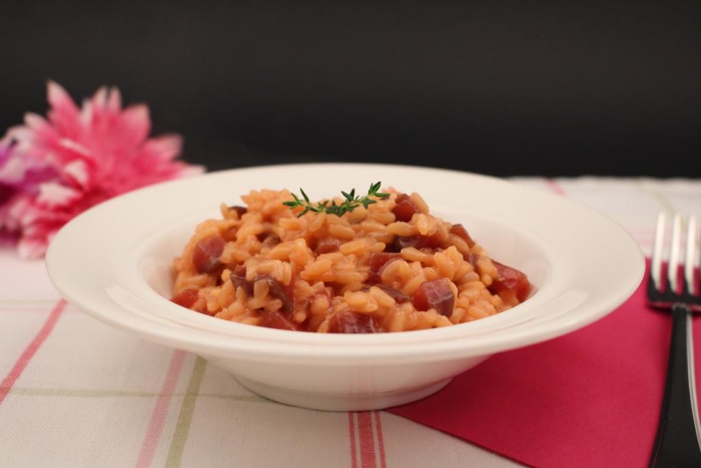 Risotto alle barbabietole rosse e gorgonzola