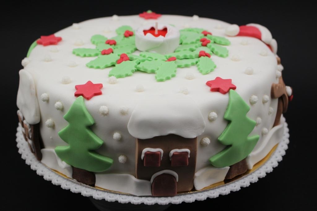 Decorazioni per torte natalizie cutter stella di natale - Decorazioni torte natale ...