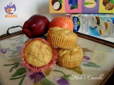 Muffin con mele e uvetta