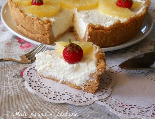 Cheesecake con crema di ananas